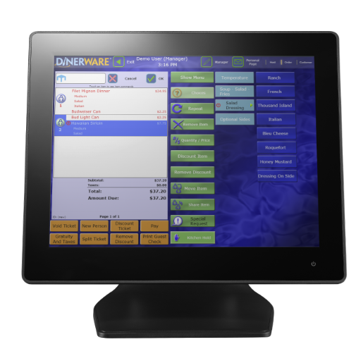 Dinerware restaurant POS software was created to help bars and restaurants run smoothly u2013 from the restaurateuru0027s point of view.  sc 1 st  Advanced Technology Solutions & DINERWARE POS